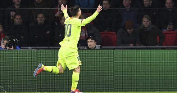 Messi rebasa a Cristiano en Champions League