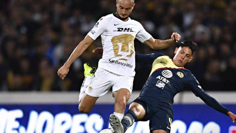 Pumas y América empatan en la ida de semifinales