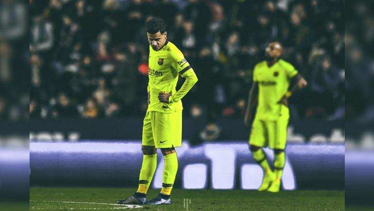 En riesgo la permanencia del Barcelona en la Copa del Rey