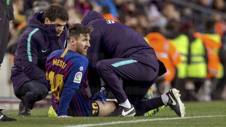Messi podría perderse clásico contra Real Madrid