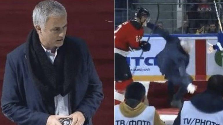 Mourinho hace el ridículo en partido de hockey