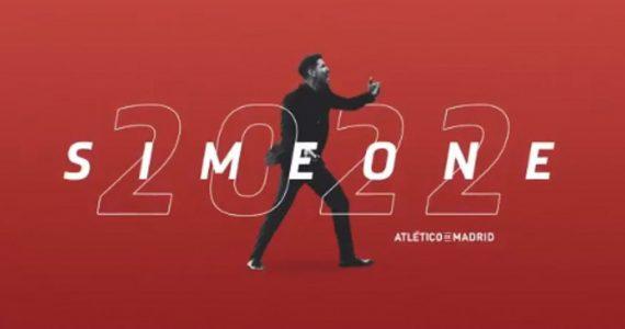 Simeone renueva hasta 2022 con el Atlético de Madrid