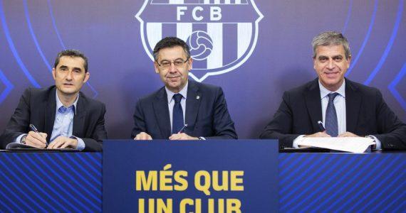 Barcelona renueva a Ernesto Valverde hasta 2020