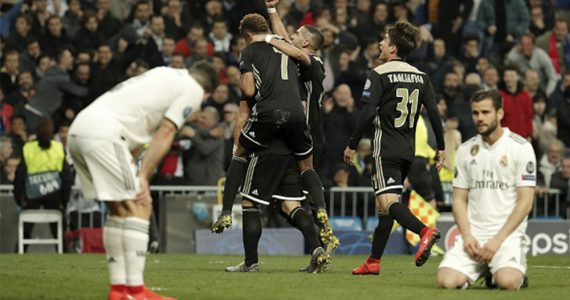 Real Madrid es eliminado de la Champions League por el Ajax