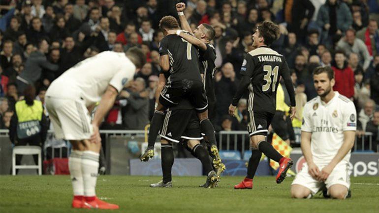 Real Madrid es eliminado de la Champions League por el Ajax